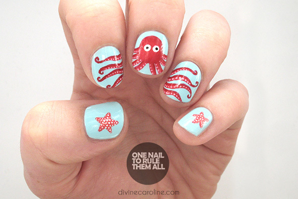 Under the sea octopus summer nail art to try more octopus nails prinsesfo Image collections