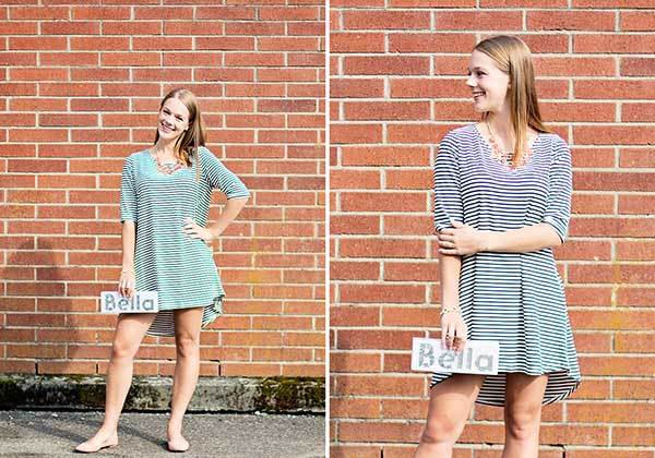 3 Ways to Wear a Striped Dress: Set 3