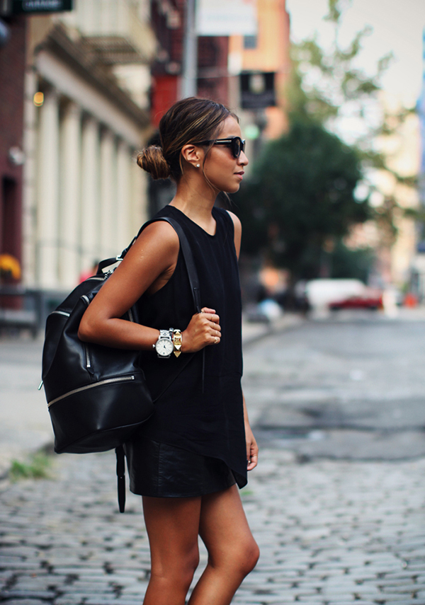 Carry an unstructured backpack