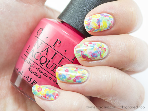 Abstract Nail Art That Makes A Splash Of Color More