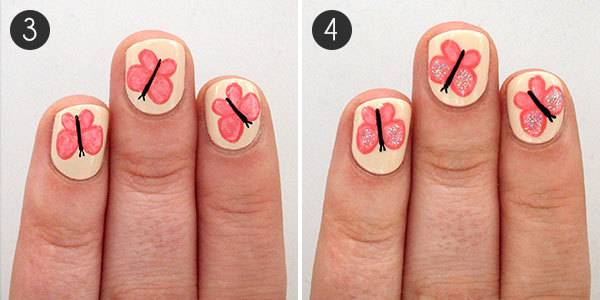 Butterfly Nails: Steps 3-4