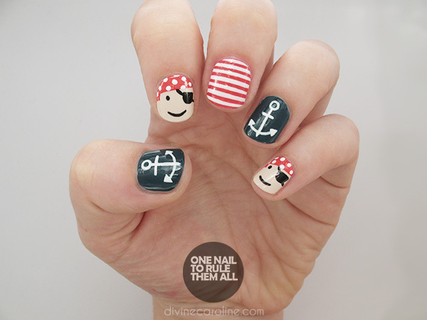 Playful Pirate & Nautical Nails