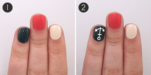 Playful Pirate & Nautical Nails: Steps 1 and 2