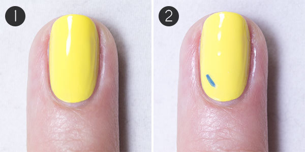 Back to School Nails Steps 1-2