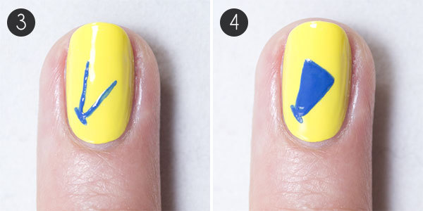 Back to School Nails Steps 3-4