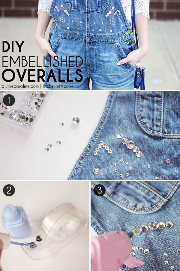 DIY Embellished Overalls Step-by-Step Instructions