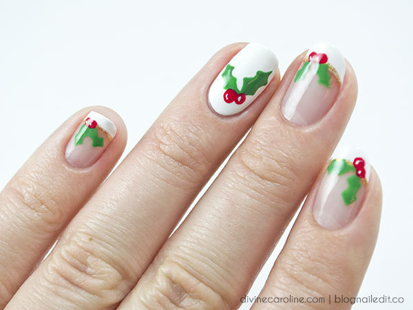 Christmas Nails Holly