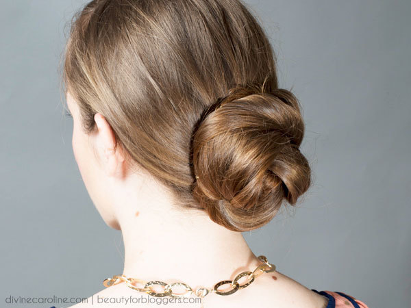 A Classic Low Chignon in 3 Easy Steps | more.com