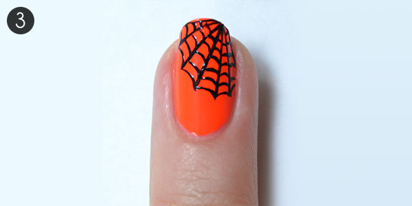 Creepy Cobweb Nails