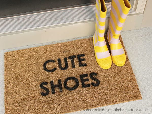 Customize Your Welcome With A Diy Doormat More