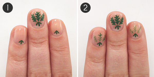 Deck The Halls With These Candy Cane Mistletoe Christmas Nails