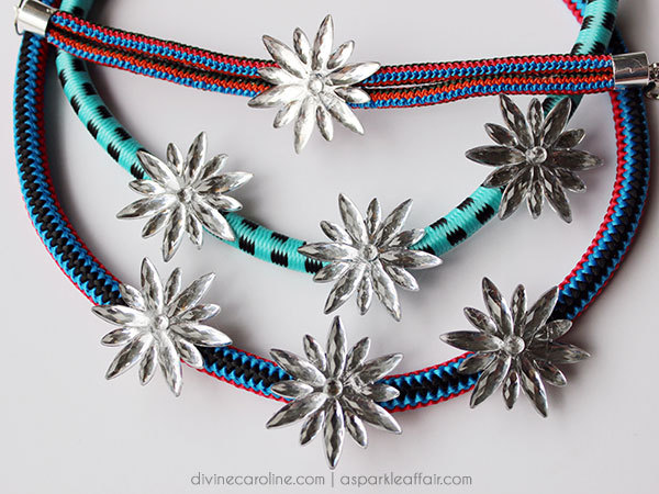 DIY Bungee Cord Statement Necklace & Bracelet
