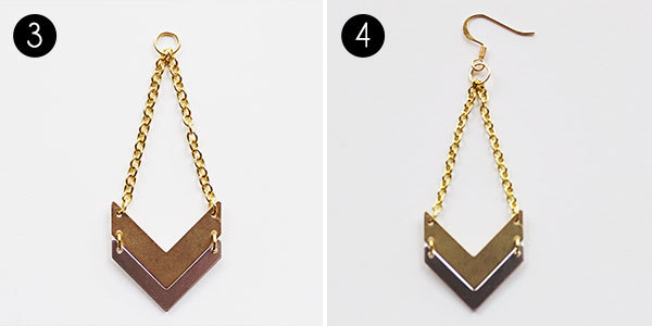 Chevron Earrings: Steps 3-4