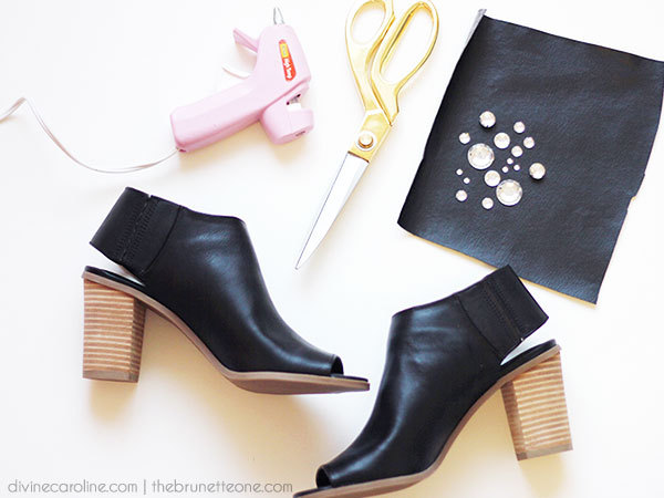 DIY Jeweled Mules