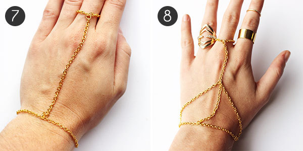 DIY Jewelry How to Make a Hand Chain morecom