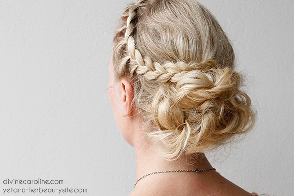 Diy your wedding day hairstyle with this braided updo more diy wedding hair solutioingenieria Images