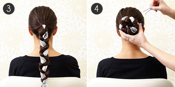 Silk Chignon: Steps 3-4