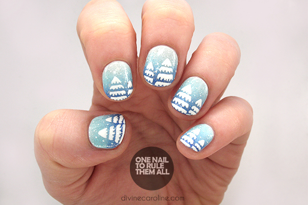 Winter Gradient Nails Story Image