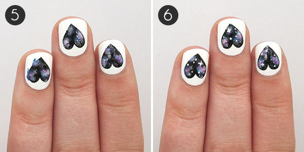 Galaxy Hearts Nail Design - Galaxy Heart Nails Tutorial More.com