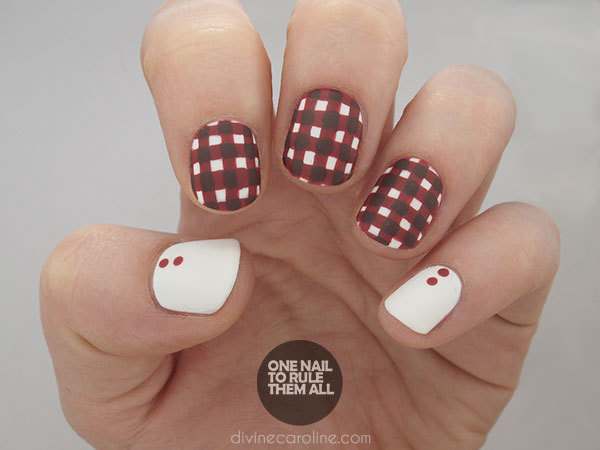 gingham nail art - Go Gingham: Plaid Fall Nail Art More.com