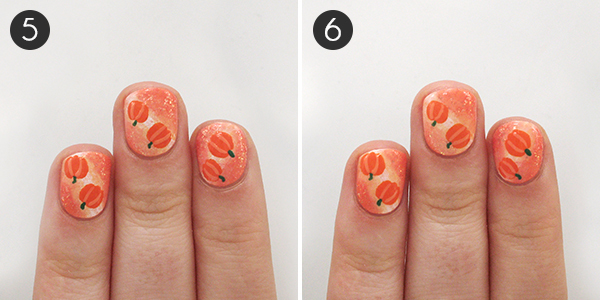 Pumpkin Nails Steps 5-6
