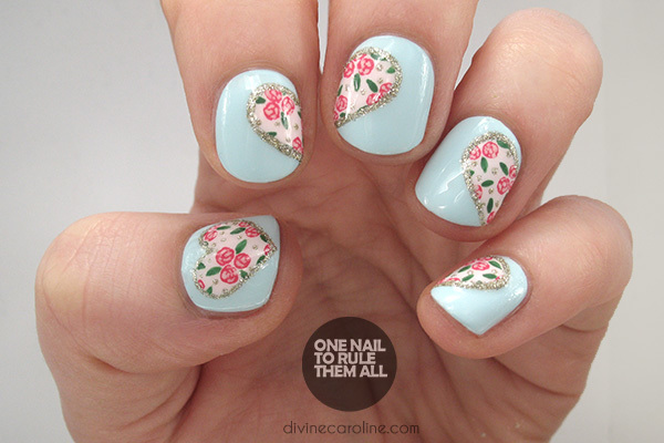 Heart Nails - Hearts And Flowers: The Perfect Valentine's Day Nail Art More.com
