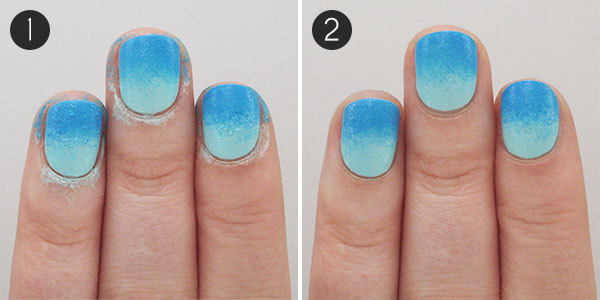 Summery Floral Nails: Steps 1-2