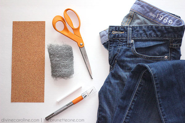 How To Distress Jeans Supplies