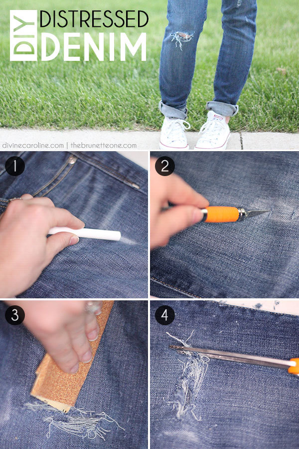 How To Distress Jeans Step-by-Step