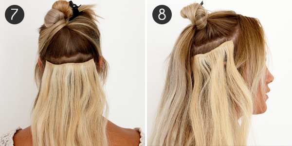 how to style hair extensions with clip ins how to use clip in hair extensions more 6020