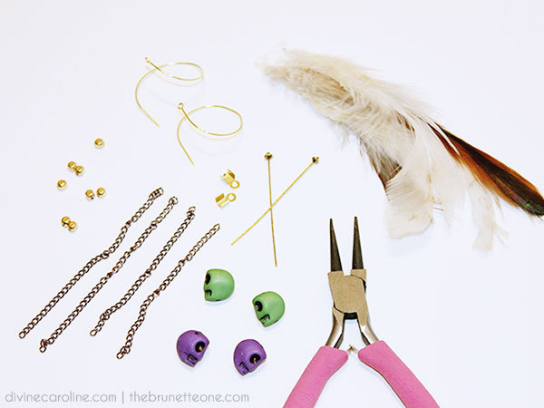 Feather Earring Materials
