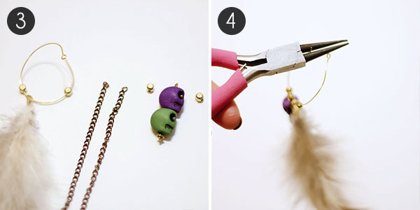 Feather Earrings: Steps 3 & 4