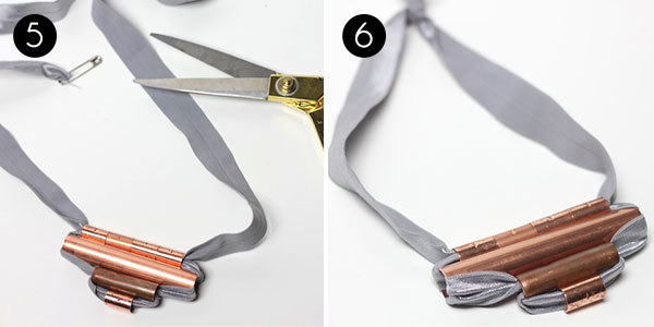 Copper Tubing Necklace: Steps 5-6