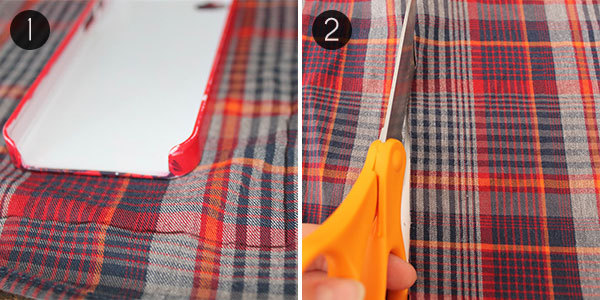 Plaid iPhone Case: Steps 1 and 2