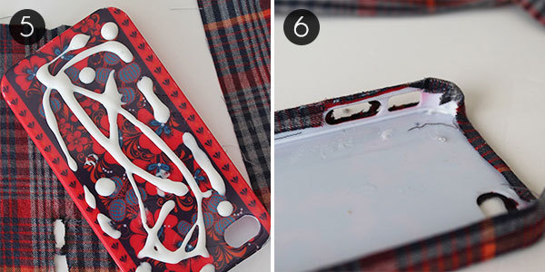 Plaid iPhone Case: Steps 5 and 6