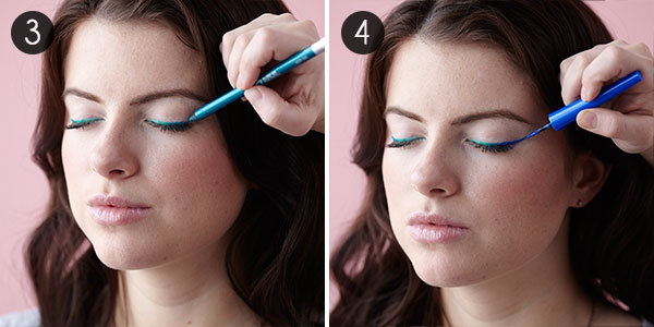 Colorful Ombre Liner: Steps 3-4