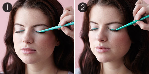 Colorful Ombre Liner: Steps 1-2