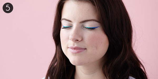 Colorful Ombre Liner: Step 5