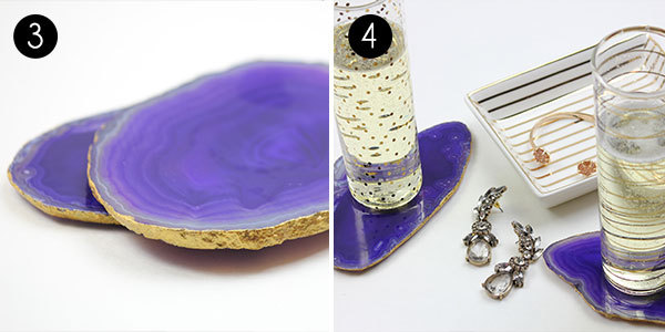 Gilded Agate Coasters: Steps 3-4
