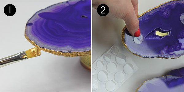 Gilded Agate Coasters: Steps 1-2