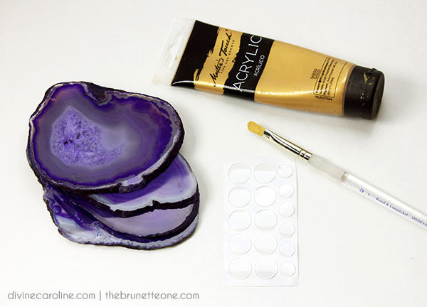 Gilded Agate Coasters: Materials