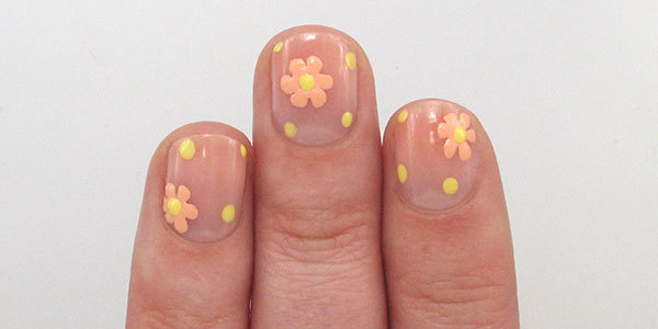 Negative E Flowers Nail Art Tutorial