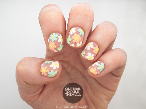 Negative Space Flower Nail Art Tutorial - More