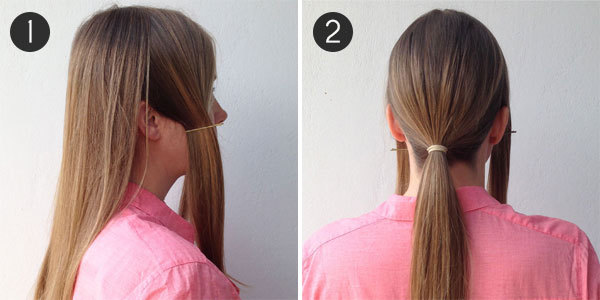 Party Hair: The Low Bun: Steps 1 and 2