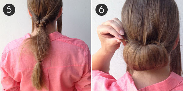 Party Hair: The Low Bun: Steps 5 and 6