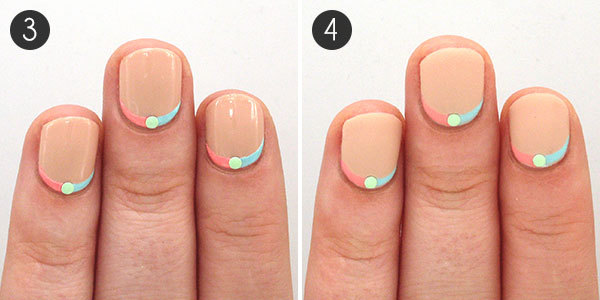 Two-Toned Ruffian Nails with Studs: Steps 3-4