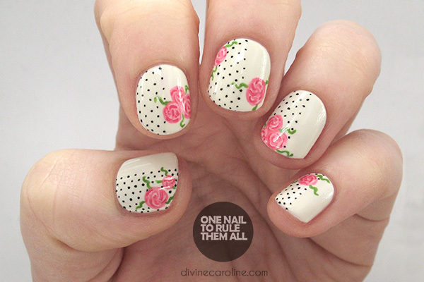 The perfect polka dot and floral nails to celebrate valentines day from your soor lack thereofthis valentines day dont worry you can give yourself the gift of roses with this easy and inexpensive nail makeover solutioingenieria Choice Image