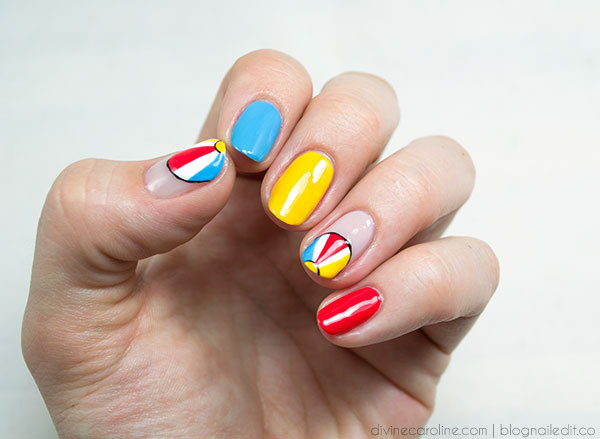 Playful Beach Nail Design - Summer Nails: Playful Beach Nail Design More.com
