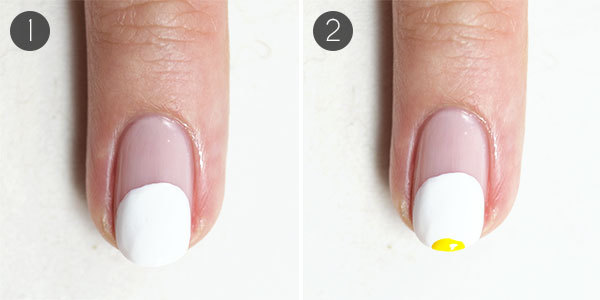 Playful Beach Nail Design Steps 1-2
