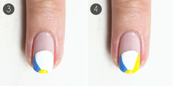 Playful Beach Nail Design Steps 3-4